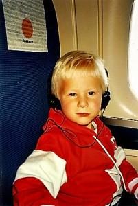 Liten Gutt på vei til Spania